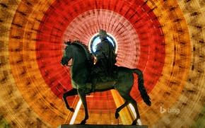 Картинка Лион, колесо обозрения, статуя Людовика XIV, площадь Белькур, Франция