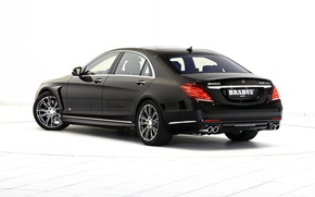 Картинка черный, Mercedes-Benz, Brabus, седан, мерседес, Hybrid, брабус, гибрид, S-Klasse, W222, 2015, B50