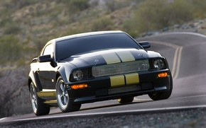Обои дорога, Mustang, Ford, Shelby GT-H
