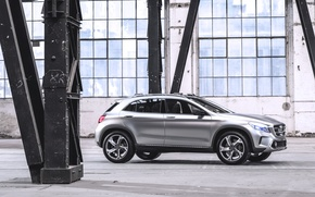 Картинка Concept, Авто, Машина, Серый, Серебро, Джип, Mercedes Benz, Помещение, Вид сбоку, GLA