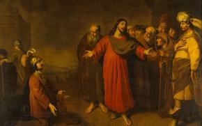 Картинка картина, мифология, Христос и Сотник, Адам Камерариус