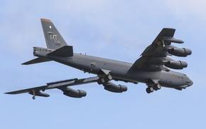 Обои стратегический, B-52H, бомбардировщик, тяжёлый, Stratofortress, Boeing