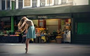 Обои город, танец, балерина, Marine Fauvet