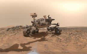 Обои Марс, марсоход, Curiosity, Кьюриосити