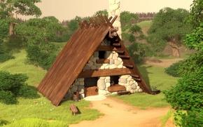 Картинка House, Astérix et Obélix, cosiness