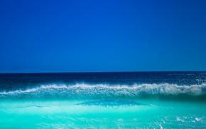 Картинка море, небо, брызги, волна, гребень