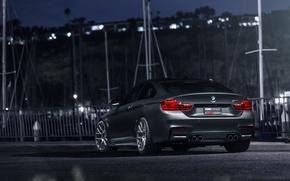 Картинка BMW, German, Car, Gray, Wheels, Rear, VMR, Mineral