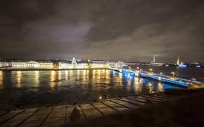 Картинка ночь, огни, Питер, Санкт-Петербург, Россия, Russia, спб, St. Petersburg, spb