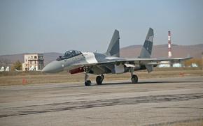Обои самолет, боевой, Су 35