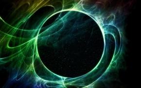 Картинка lights, Galaxy, Sci Fi, green star