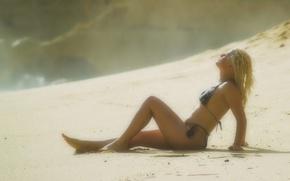 Картинка песок, купальник, Пляж