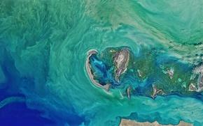 Обои острова, космос, океан, планета, спутник, Земля, NASA, снимок, foto
