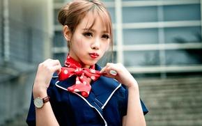 Картинка девушка, макияж, губки, восточная, chingcho Chang
