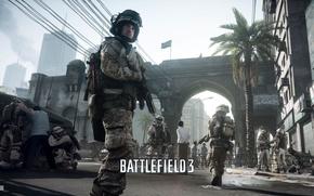 Картинка солдат, боец, танки, Battlefield 3, поле сражений