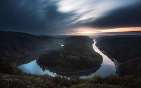 Картинка лес, река, Германия, Саар, Сааршляйфе