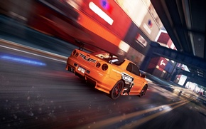 Картинка Cars, NFS Most Wanted 2012, Сидж, Nissan GTR 34