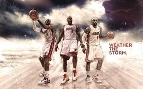 Картинка Майами, Спорт, Баскетбол, Miami, Nike, NBA, LeBron James, Heat, Хит, Трое, Леброн Джеймс