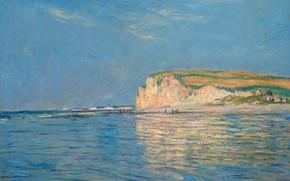 Обои пейзаж, картина, Клод Моне, Отлив в Пурвиле