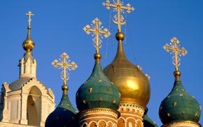 Картинка Небо, Москва, Купола