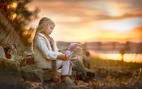 Картинка девочка, фон, кукла