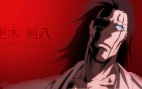 Картинка game, Bleach, devil, long hair, eyes, anime, face, captain, asian, manga, japanese, oriental, asiatic, Zaraki …