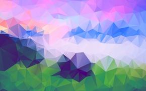 Картинка свет, линии, узор, цвет, объем, треугольник