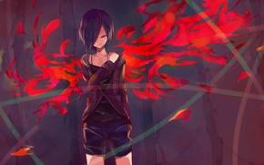 Картинка девушка, anime, art, токийский гуль, Tokyo Ghoul, Kirishima Touka