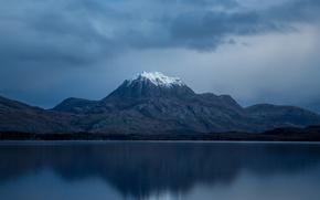 Картинка снег, гора, вершина