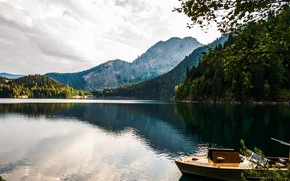 Картинка Горы, Абхазия, Озеро Рица, Дача Сталина