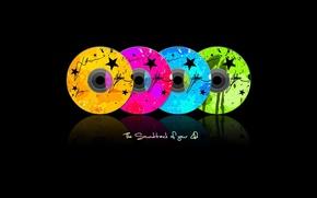 Обои soundtrack, саундтрек, СD диск, музыка