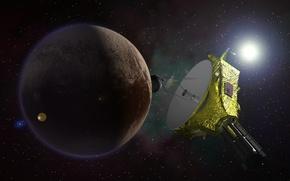 Картинка планета, станция, Плутон, НАСА, автоматическая, «Новые горизонты», межпланетная