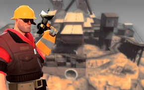 Картинка team fortress 2, tf2, инженер, тф2