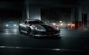 Картинка Car, ACR, American, Sport, Dodge, Front, Silver, Viper