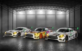 Картинка car, Mercedes, white, supercar, speed, fast, racer, Mercedes Amg GT3, Amg GT3