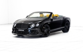 Обои черный, Bentley, Continental, белый фон, кабриолет, бентли, континенталь, Startech
