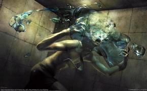 Картинка вода, человек, ужас, ryohei hase