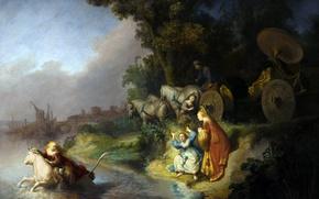 Обои Рембрандт ван Рейн, Похищение Европы, мифология, картина