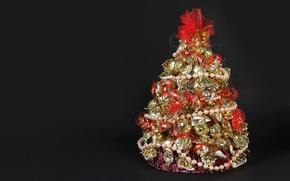 Картинка елка, рождество, конфеты