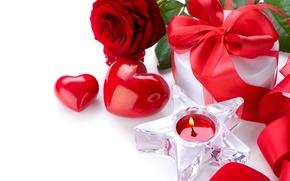 Обои цветы, Розы, свеча