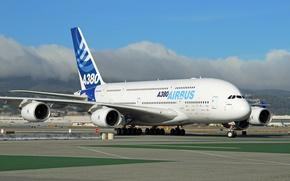 Картинка аэродром, Airbus, Аэробус А380
