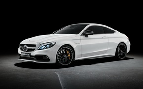 Картинка Mercedes-Benz, Coupe, AMG, купе, C-Class, мерседес, черный фон, амг, C205