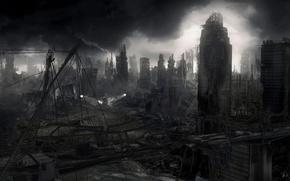 Обои разрушения, апокалипсис, город