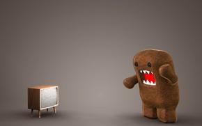 Обои игрушка, телевизор, ситуация