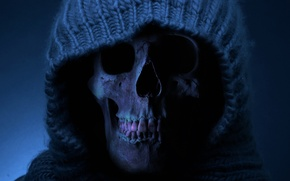 Картинка смерть, череп, зубы