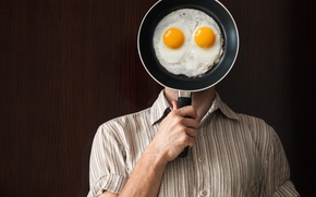Картинка shirt, fried eggs, pan