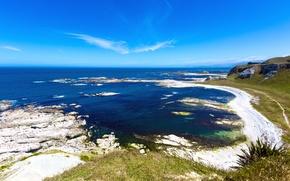 Картинка пляж, океан, побережье, New Zealand, Kaikoura