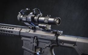 Картинка metal, assault rifle, telescopic sight