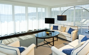 Картинка дизайн, дом, стиль, вилла, интерьер, зал, коттедж, гостиная, жилая комната