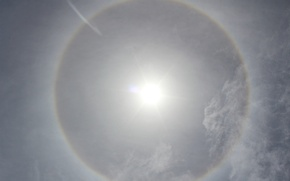 Картинка солнце, облака, гало