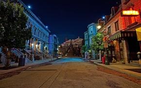 Картинка дорога, ночь, улица, дома, Night, San Fransisco, Street